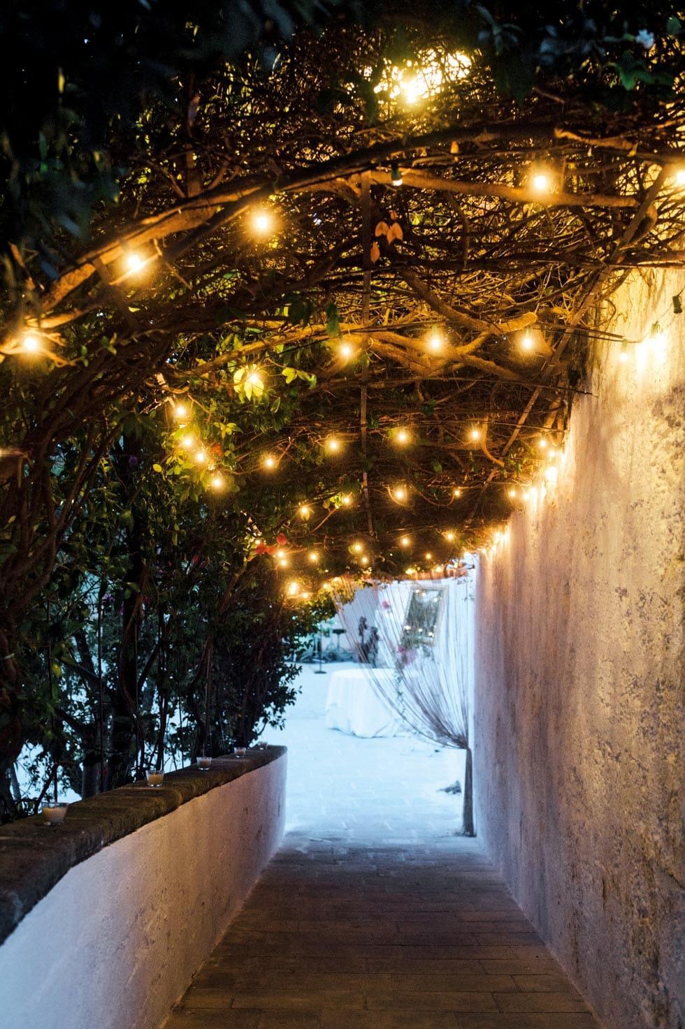 Hochzeitsdeko Lichterkette