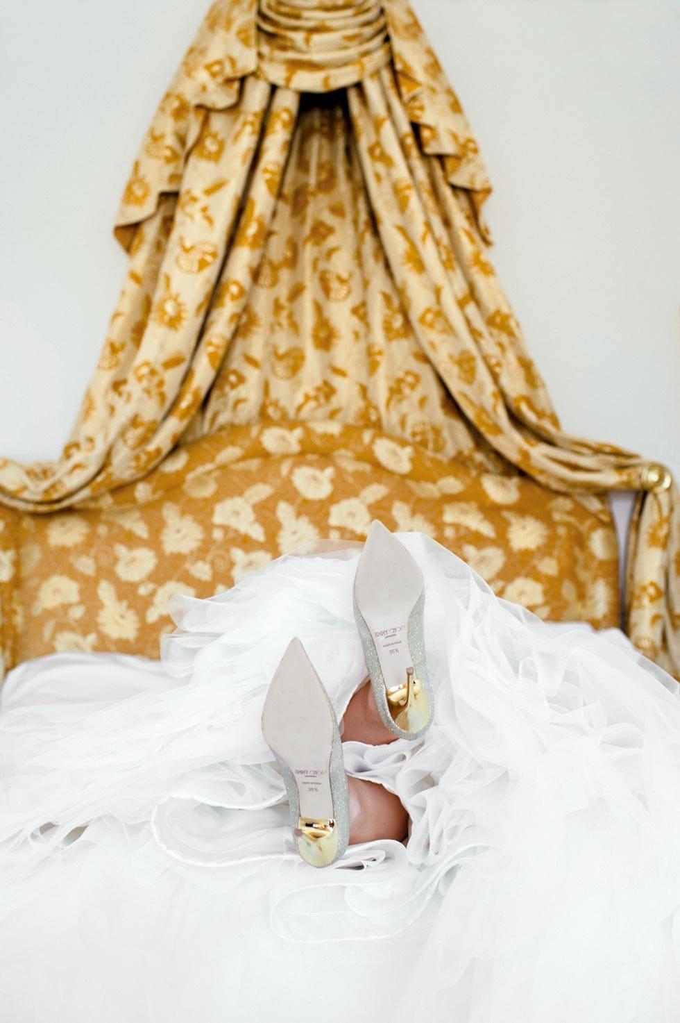 Brautschuhe Gold