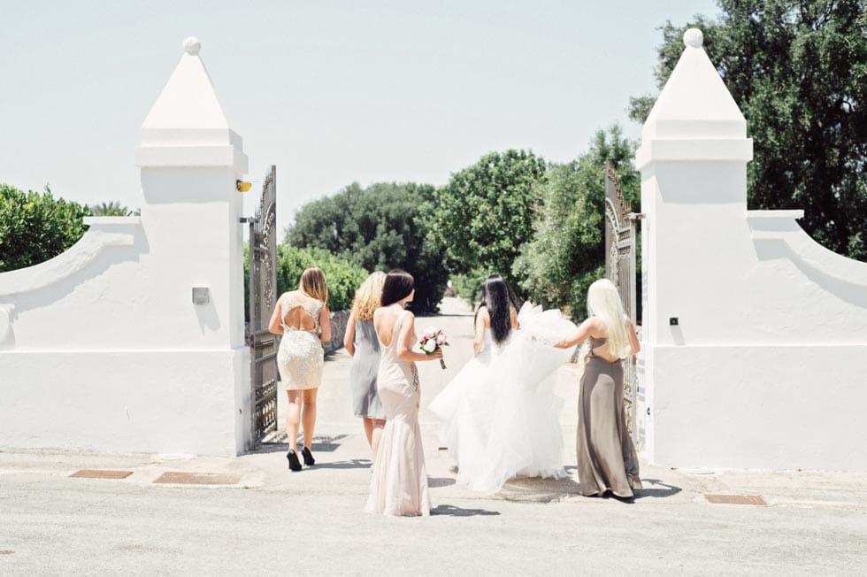 Hochzeitsfoto Braut Brautjungfern