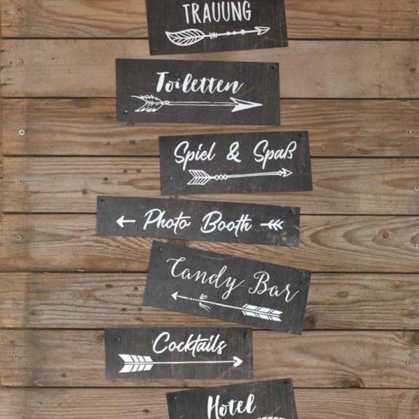 Hochzeitsschilder Holz