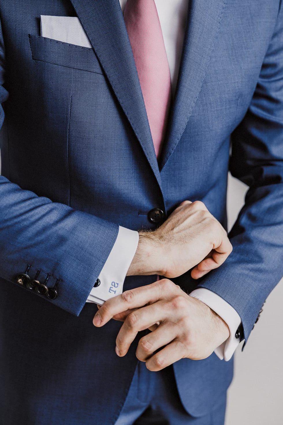Hochzeitsanzug Blau