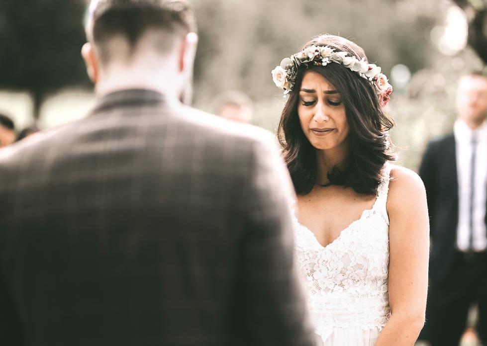 Freudentränen Braut