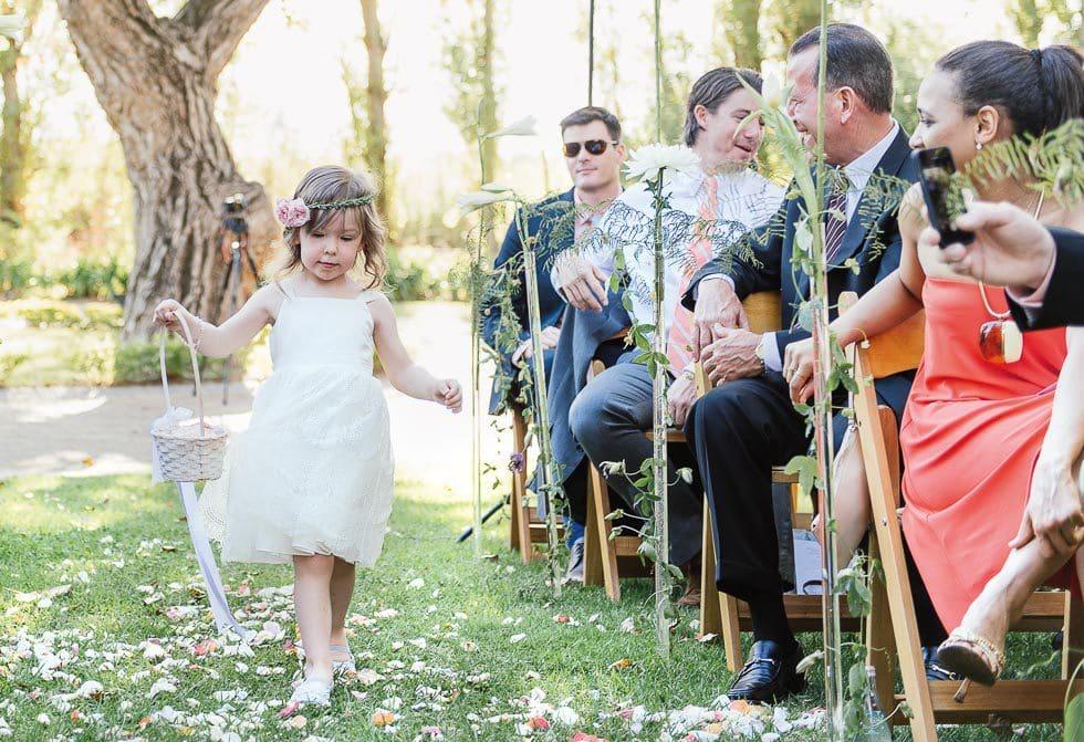 Blumenkind Einzug Braut