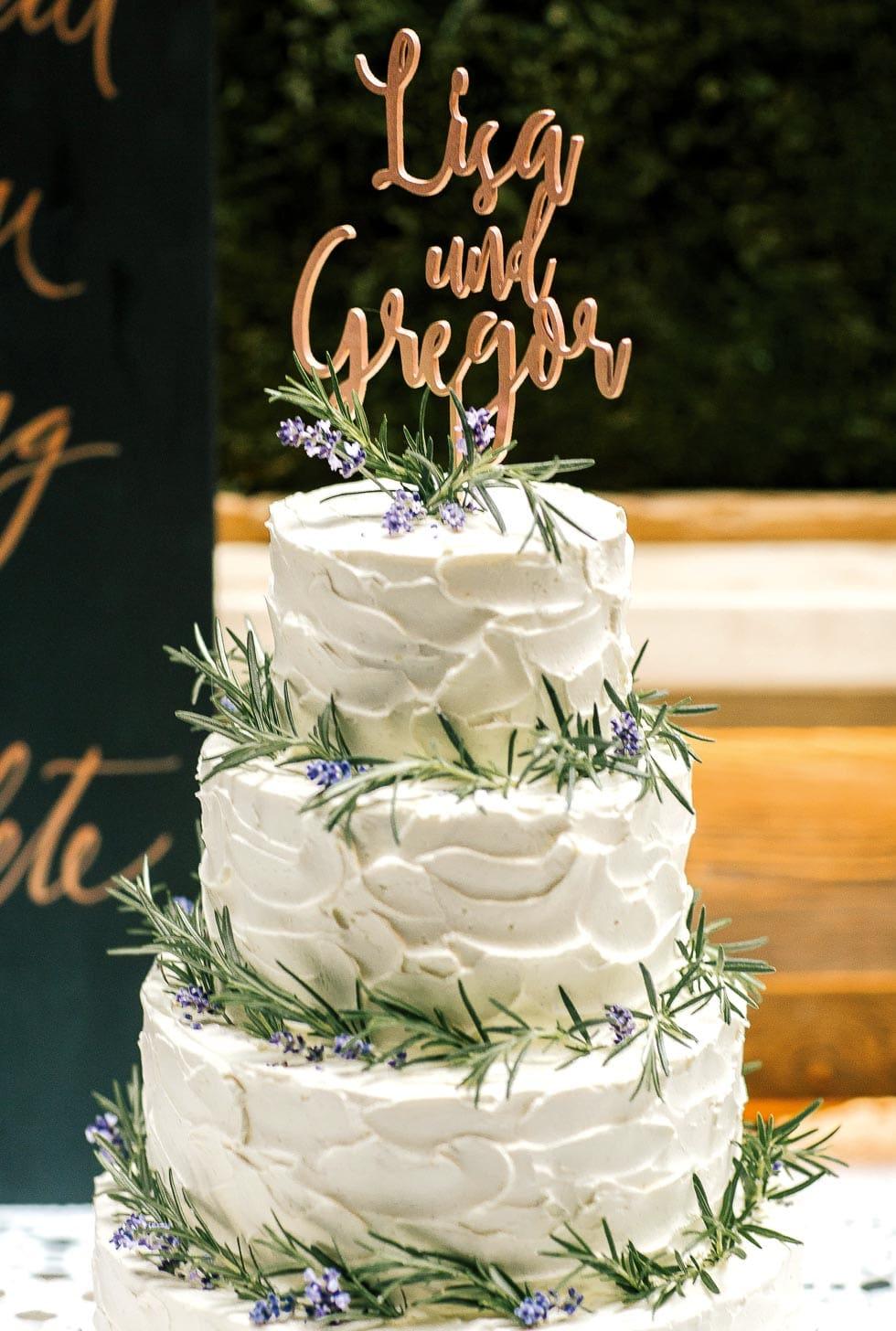 Hochzeitstorte Tortenstecker