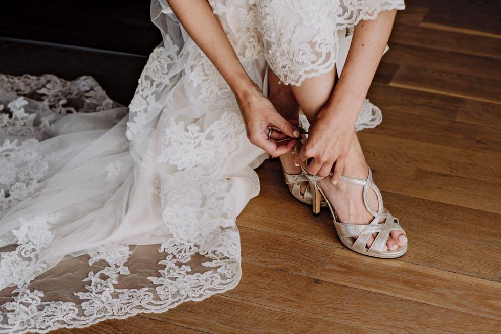 Brautschuhe kaufen Peep Toes