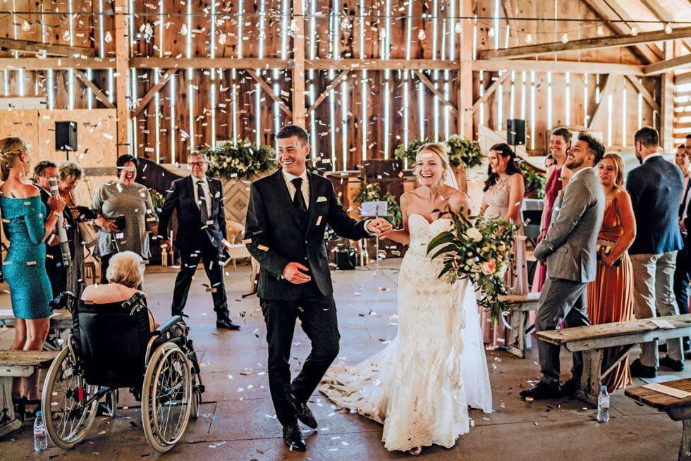 Konfettiregen Hochzeit