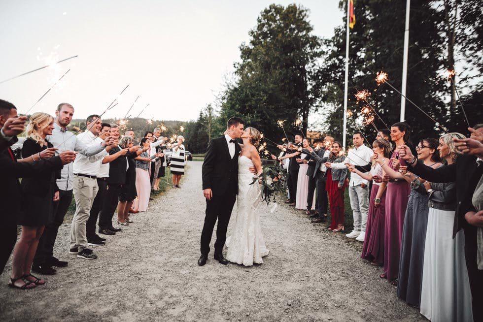 Hochzeitsreportage Brautpaar Empfang