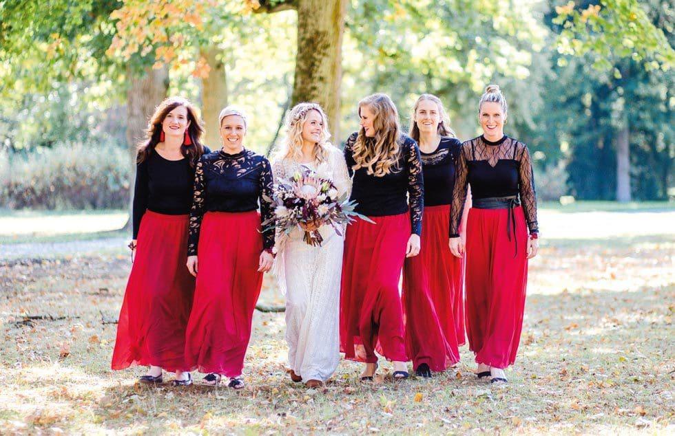 Braut Brautjungfern