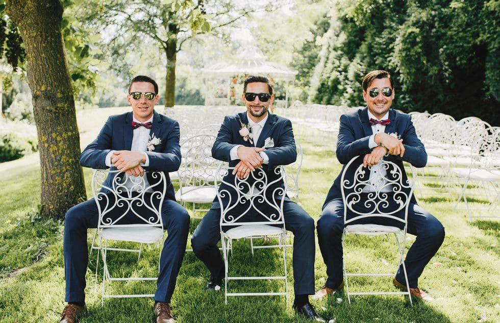 Hochzeitsfoto Bräutigam Groomsmen