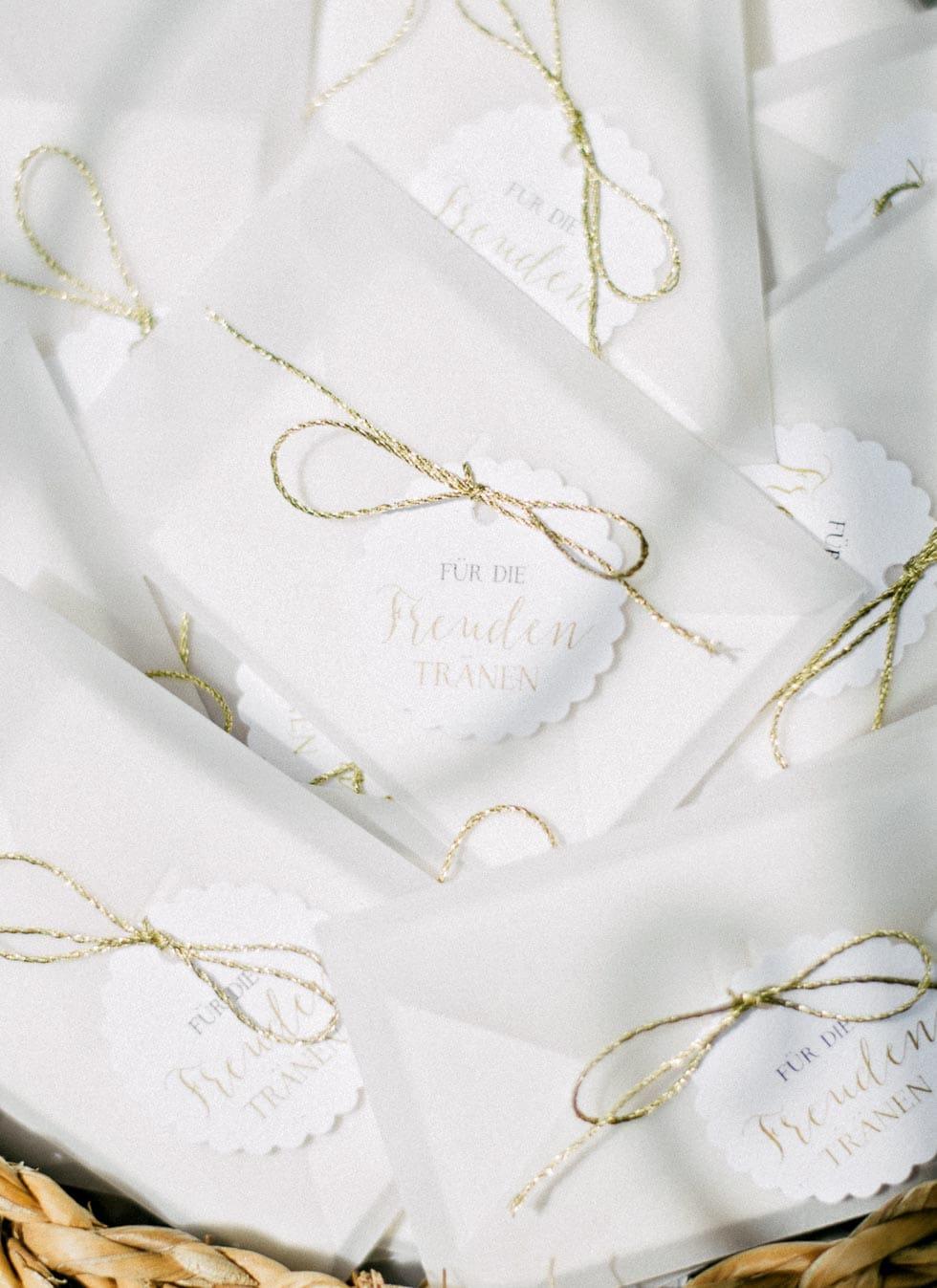 Freudentränen Taschentücher