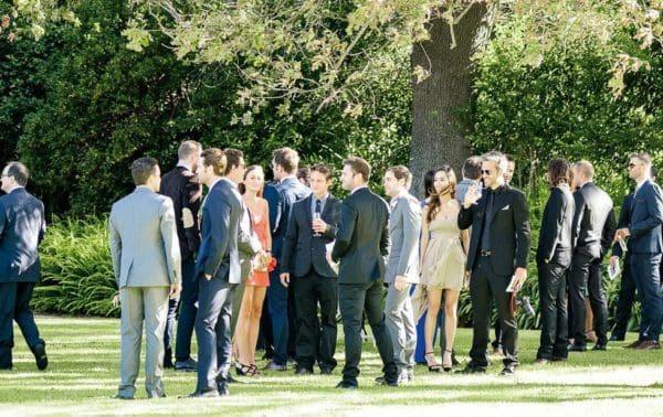 Hochzeitsgäste Gartenhochzeit