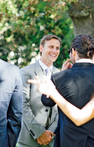 Bräutigam Hochzeitsgäste