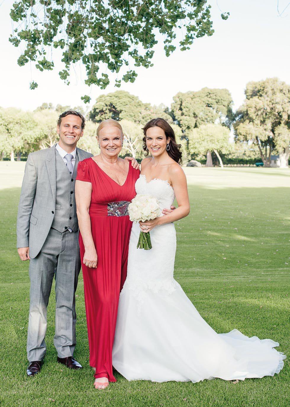 Hochzeitsfoto Brautpaar Brautmutter