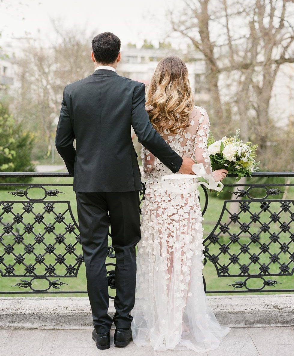 Hochzeitsfoto Brautpaar elegant