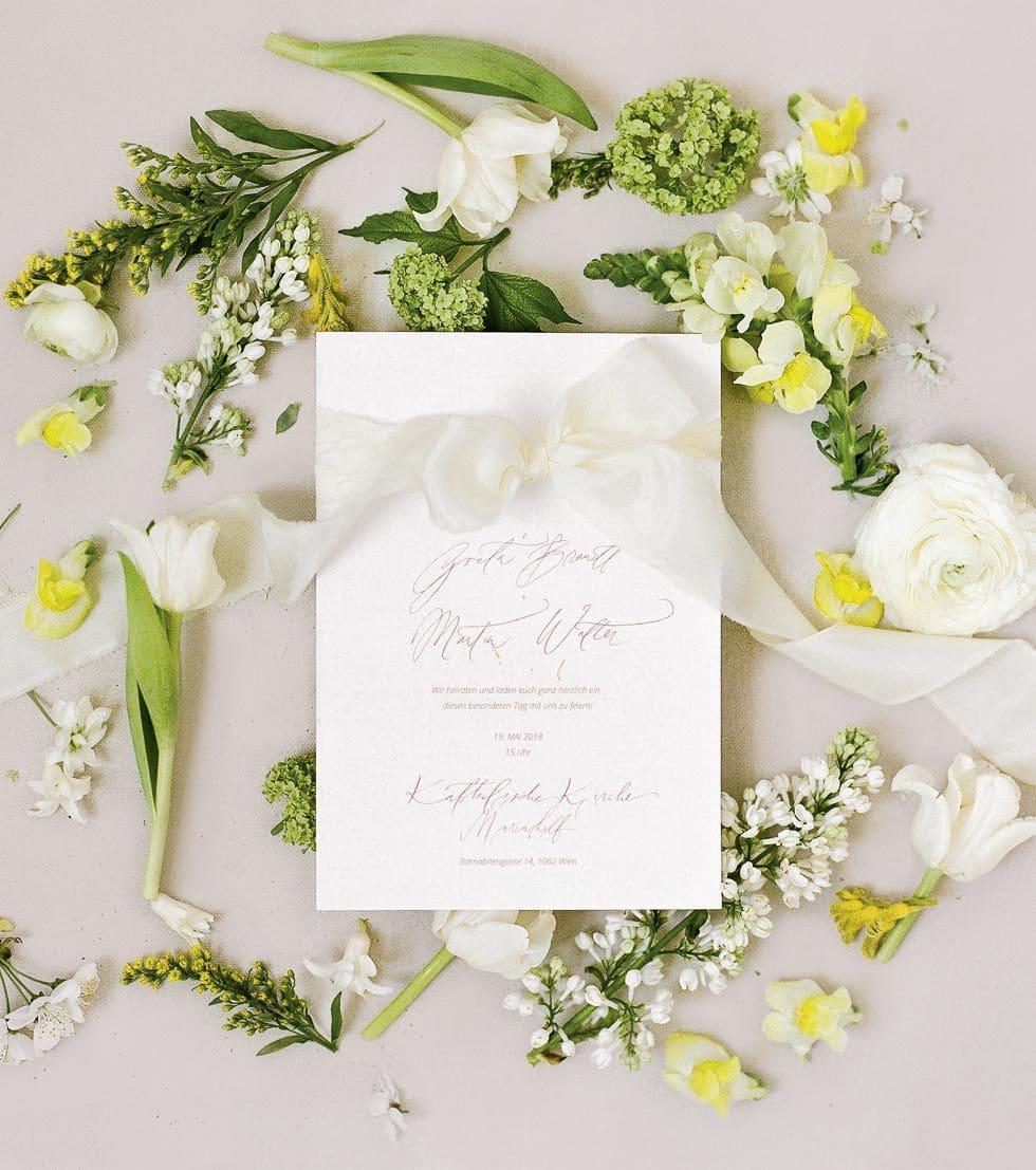 Einladung Hochzeit Calligraphie