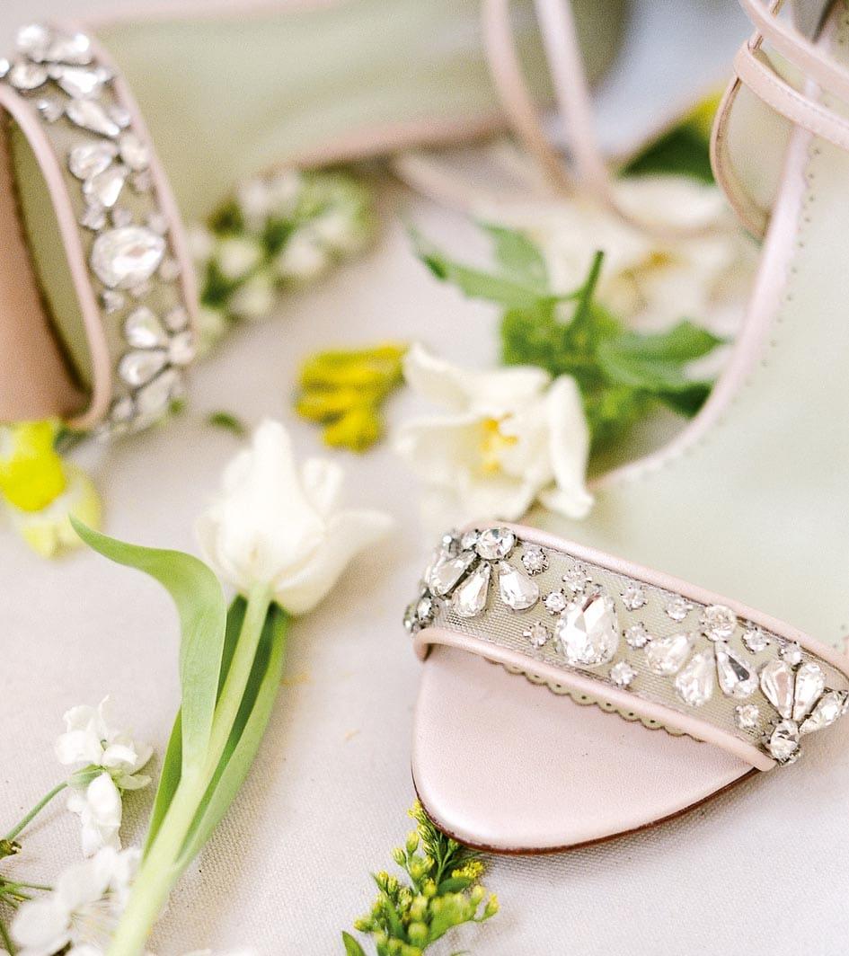 Brautschuhe offen