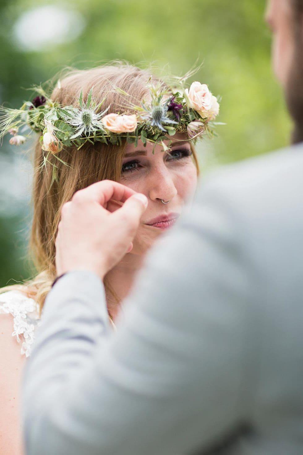Freudentränen Braut Trauung