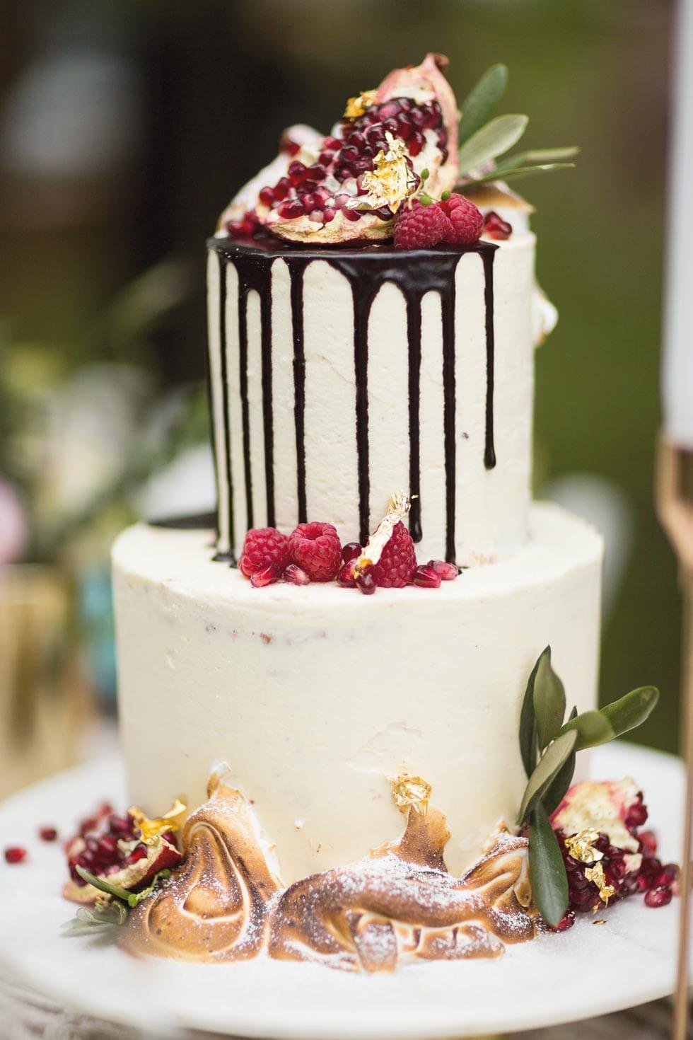 Hochzeitstorte Drip Cake