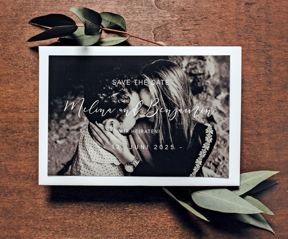 Save-the-Date Hochzeit Foto