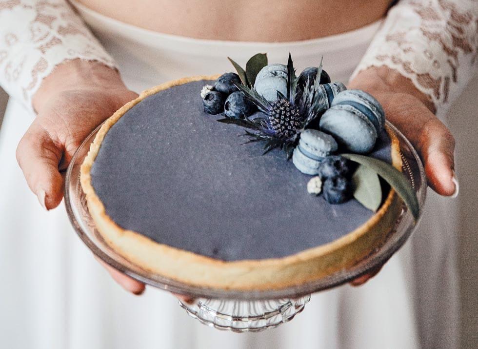 Torte Hochzeit Blaubeeren