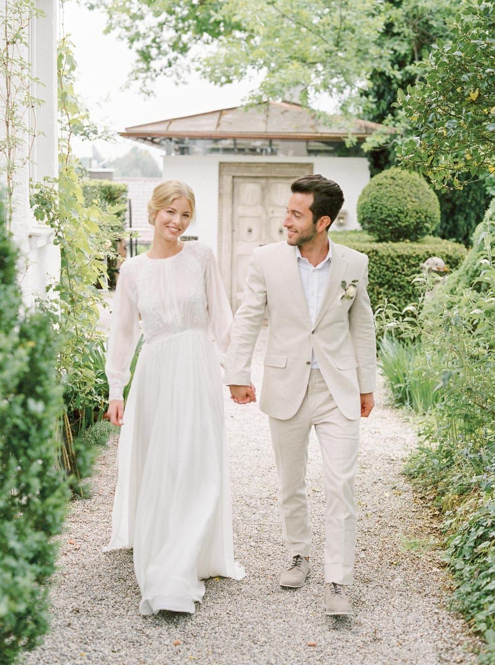 Hochzeitsanzug Beige