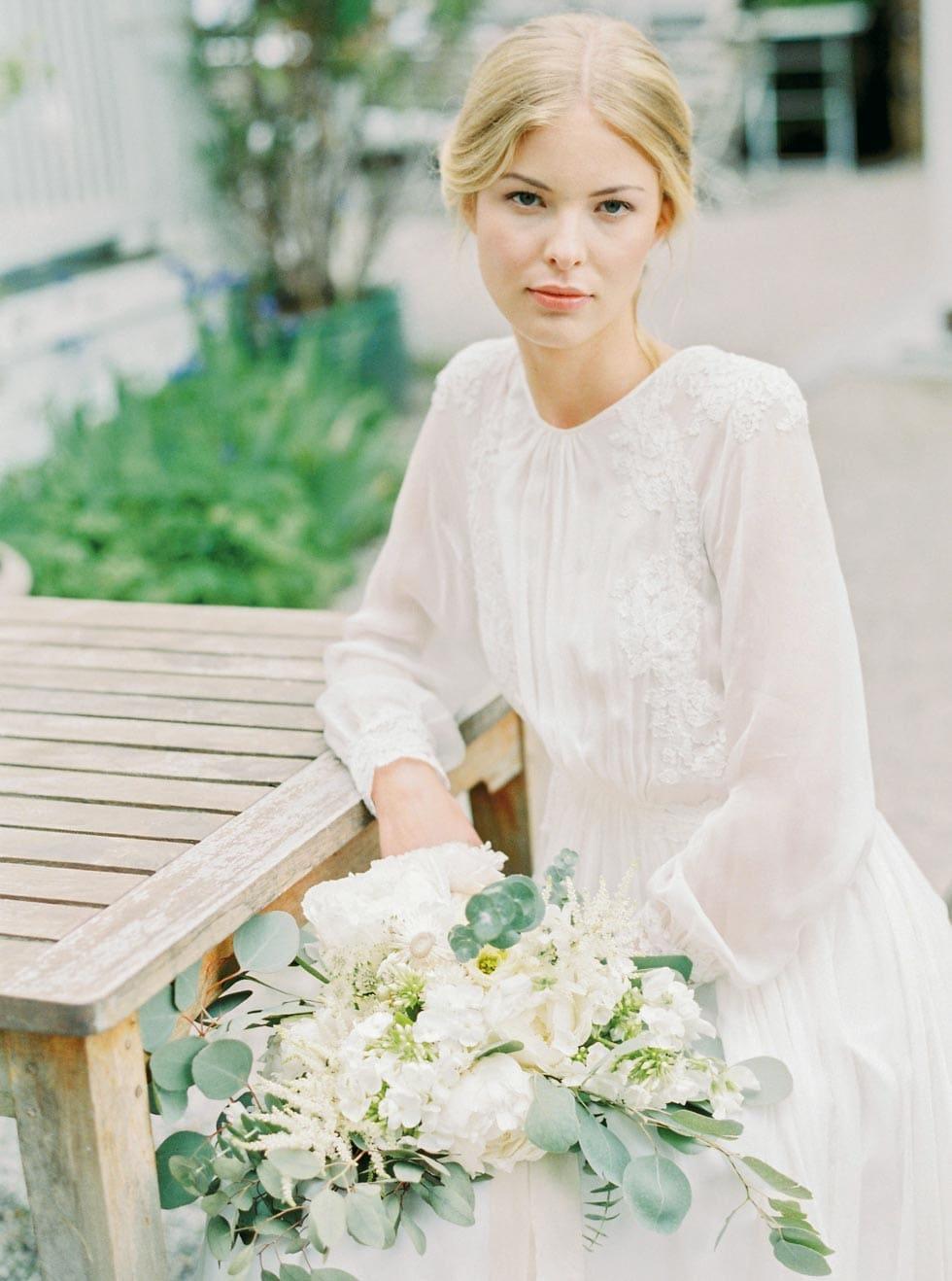 Brautstrauß Blüten Weiß