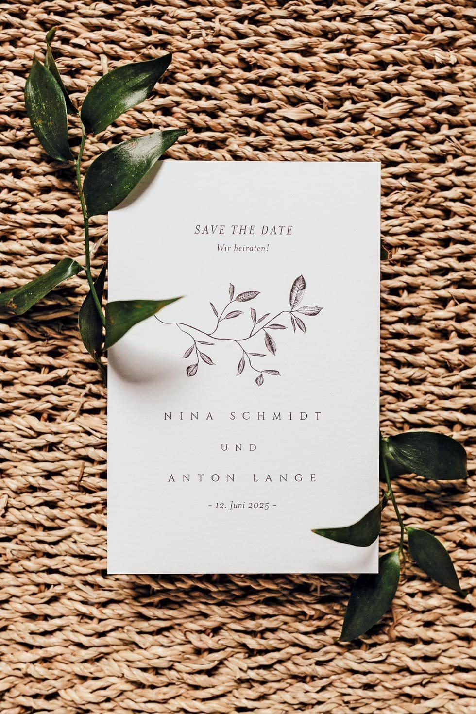 Save-the-Date Hochzeit Zeichnung
