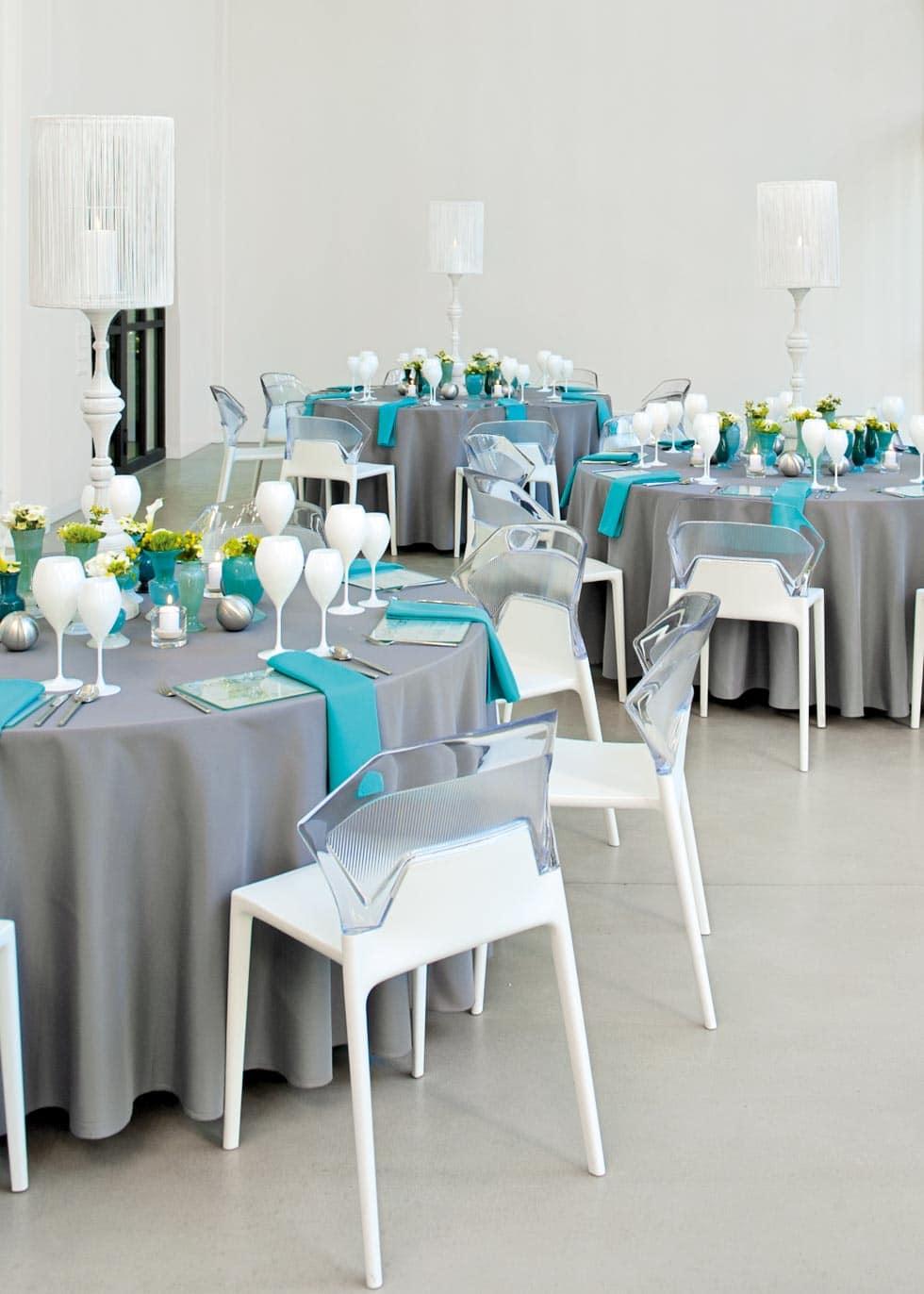 Moderne Tischdeko Hochzeit