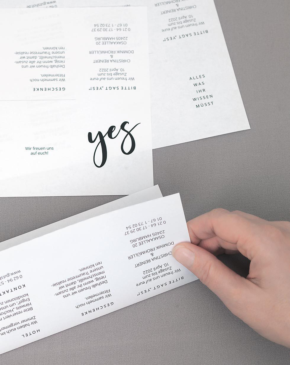 Hochzeitseinladungen selber basteln
