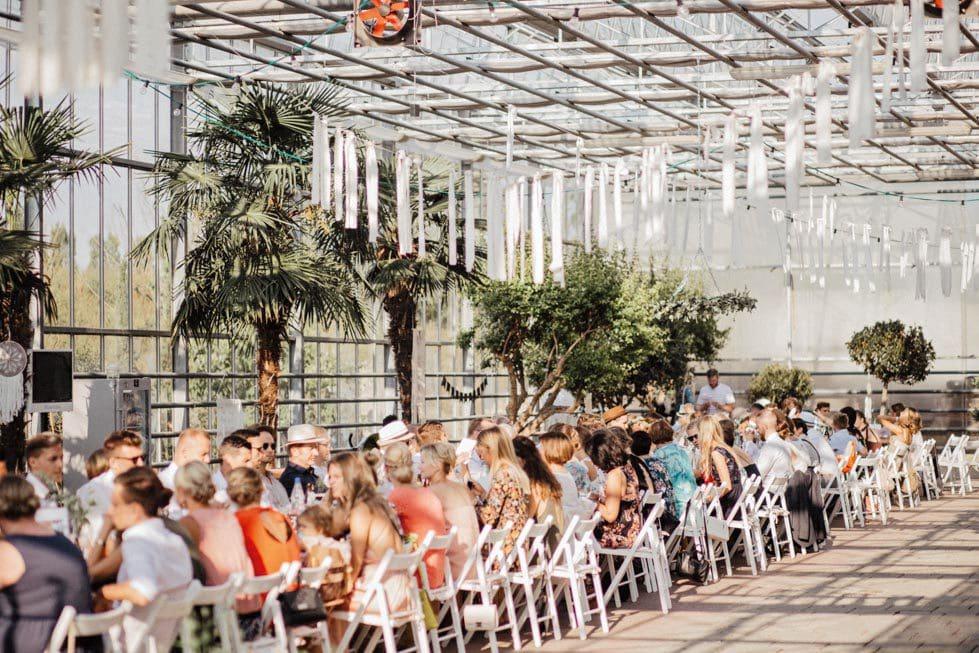 Hochzeit Gewächshaus Location