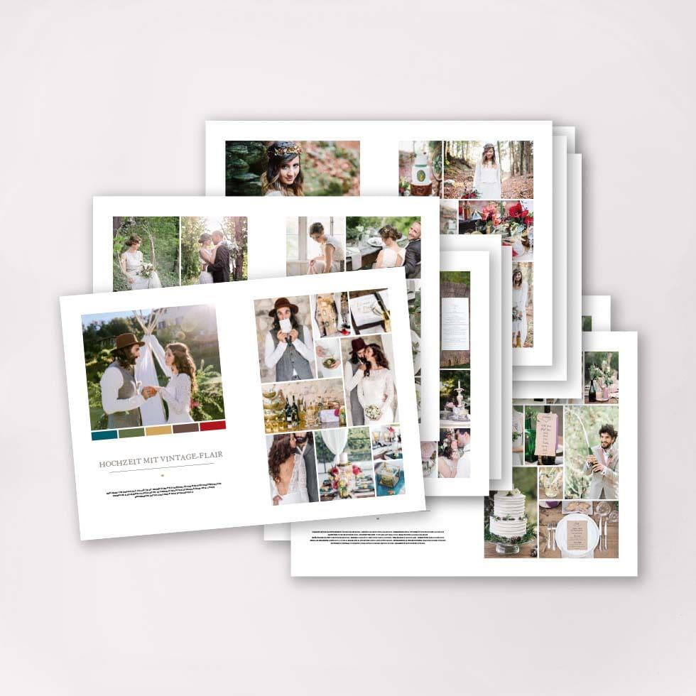 Moodboard Buch Hochzeit