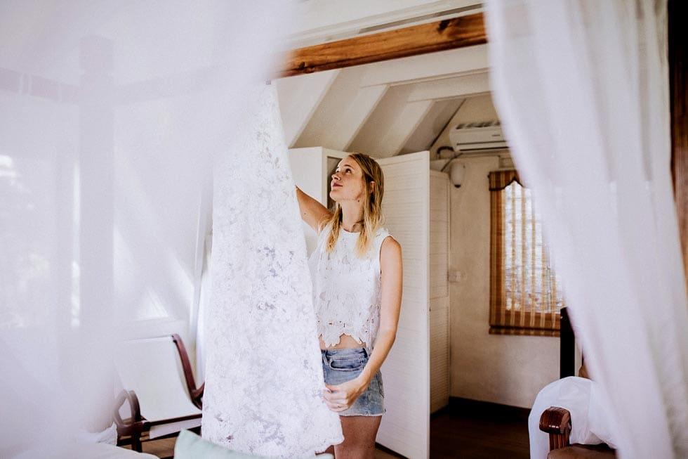 Elopement Hochzeit getting ready