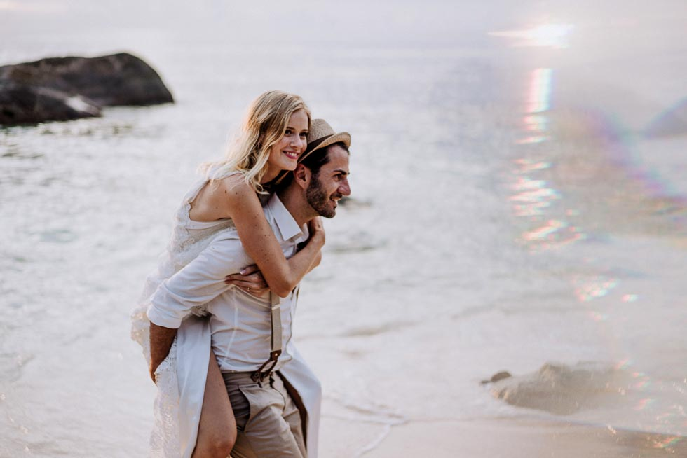 Hochzeit zu zweit am Strand