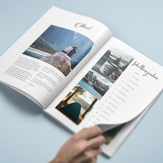 Hochzeitszeitung Editorial und Inhaltsverzeichnis