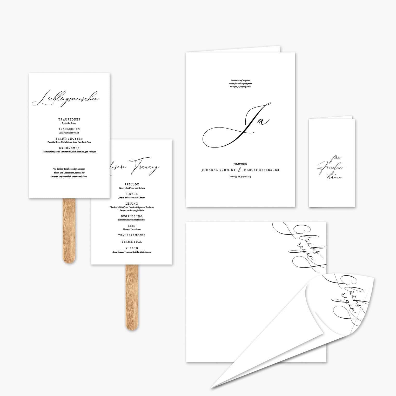 Hochzeitspapeterie Kalligraphie Schrift