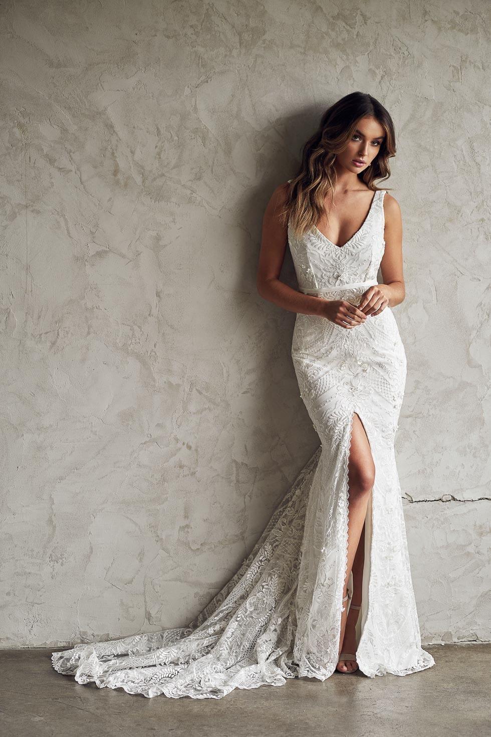 Brautkleid mit Schlitz Anna Campbell