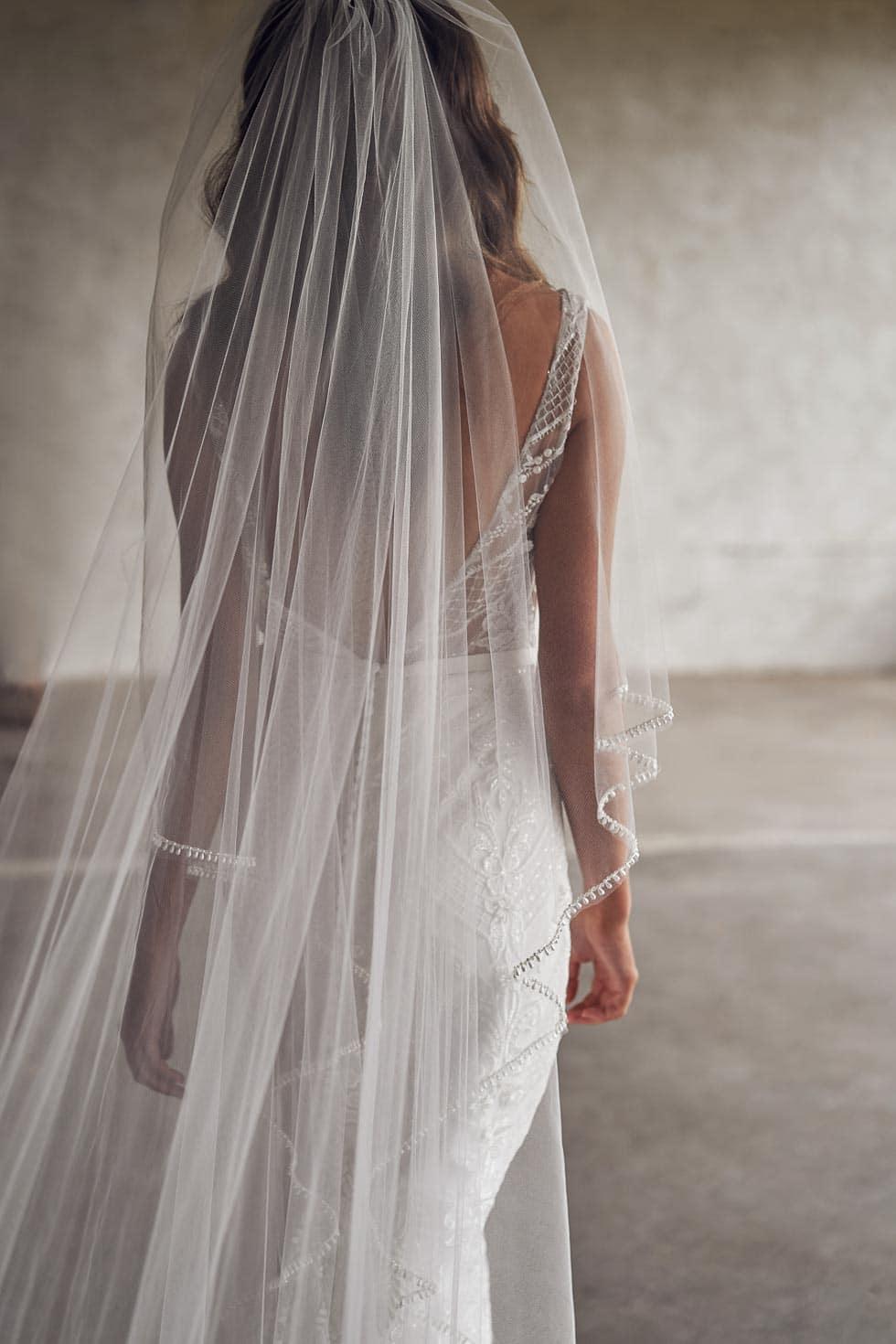 Brautschleier lang Spitze