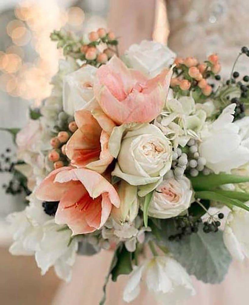 Hochzeitsblumen Brautstrauß Amaryllis