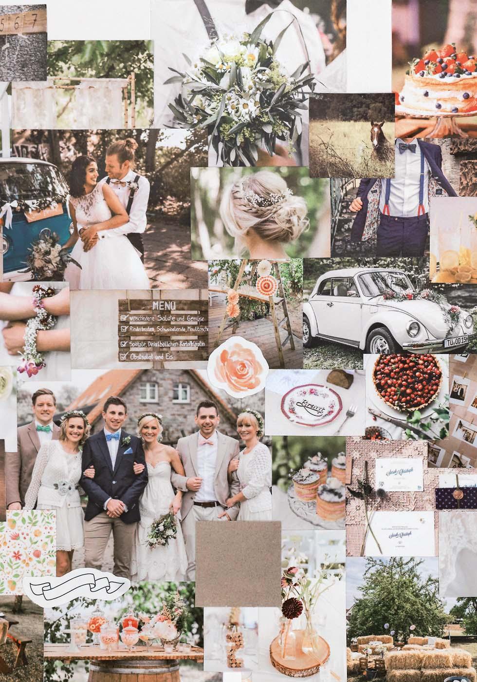 Moodboard Hochzeit Vintage