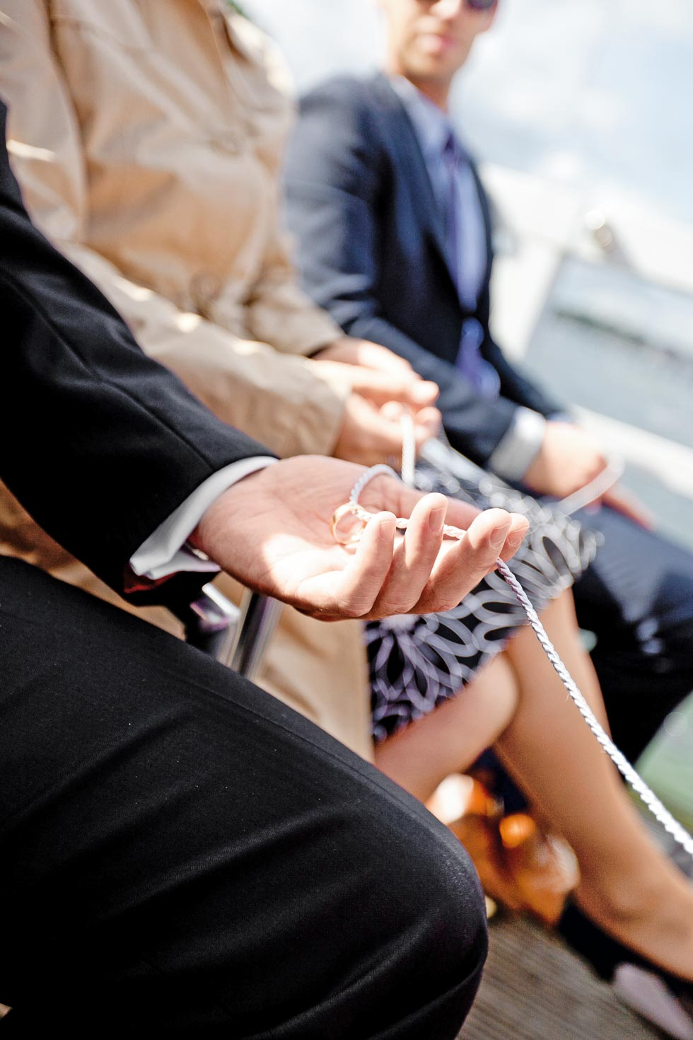 Hochzeitsritual Trauung Ringe segnen