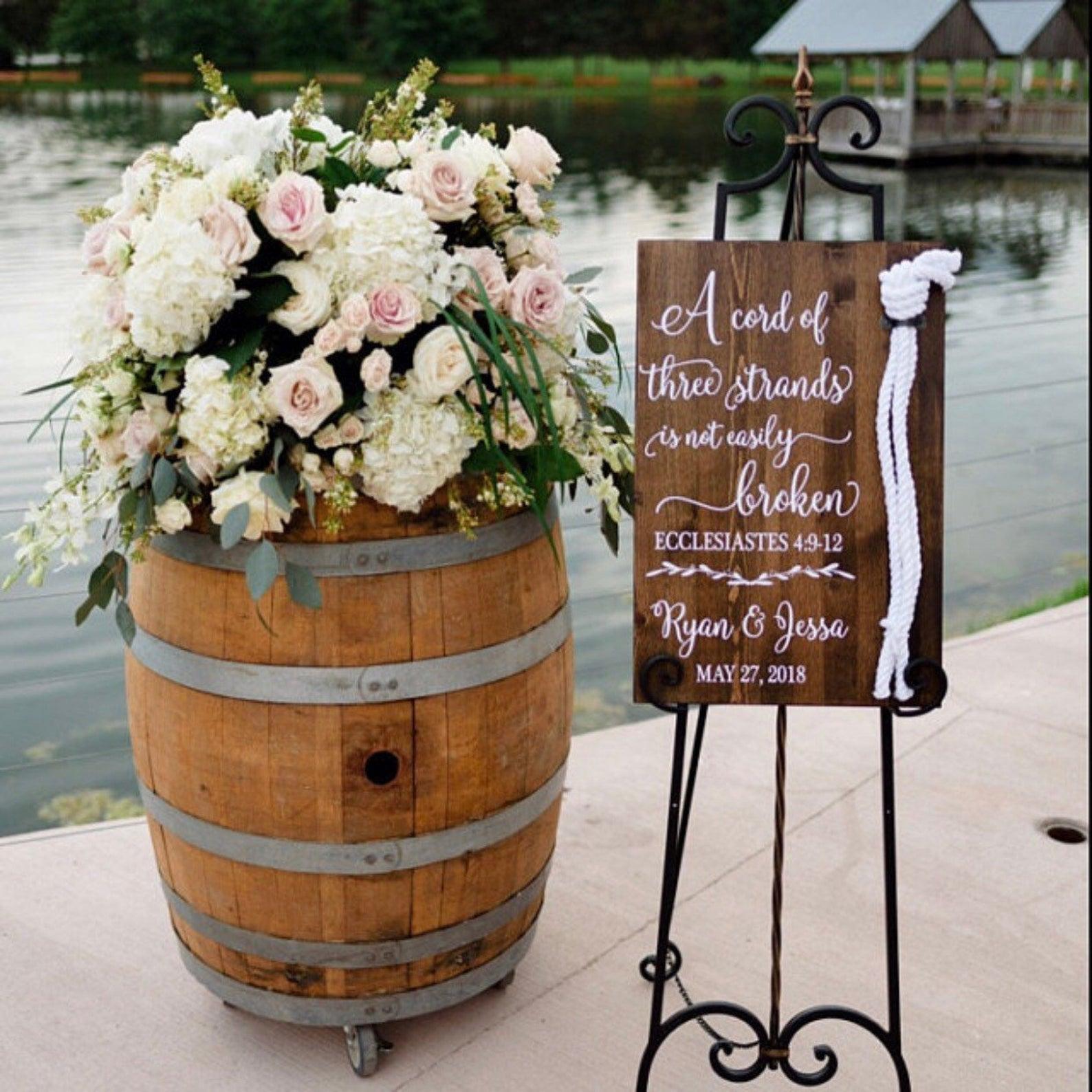 Hochzeitszeremonie Bänder