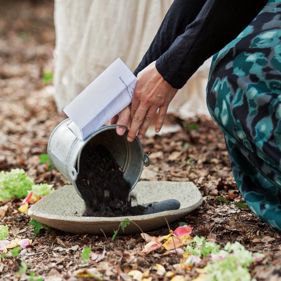 Hochzeitsritual Feuer Wasser Erde Luft