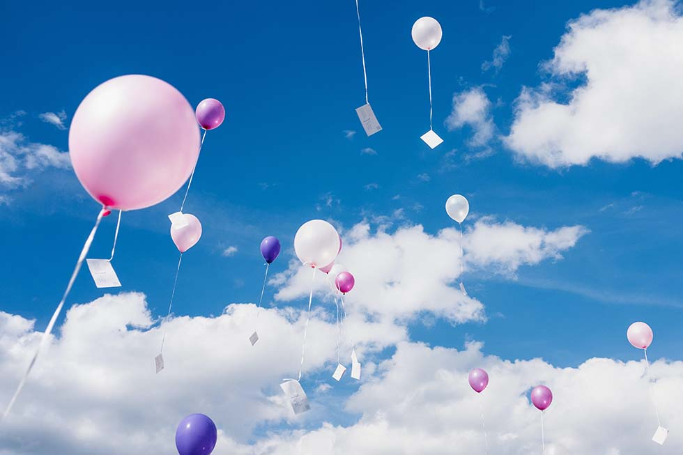Ballonkarten Hochzeit