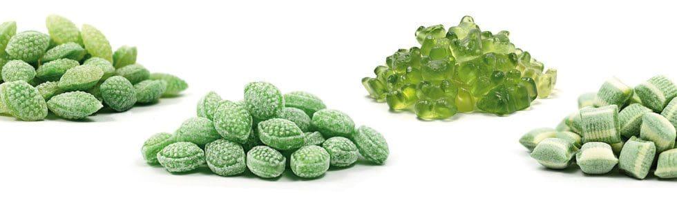 Grüne Süßigkeiten