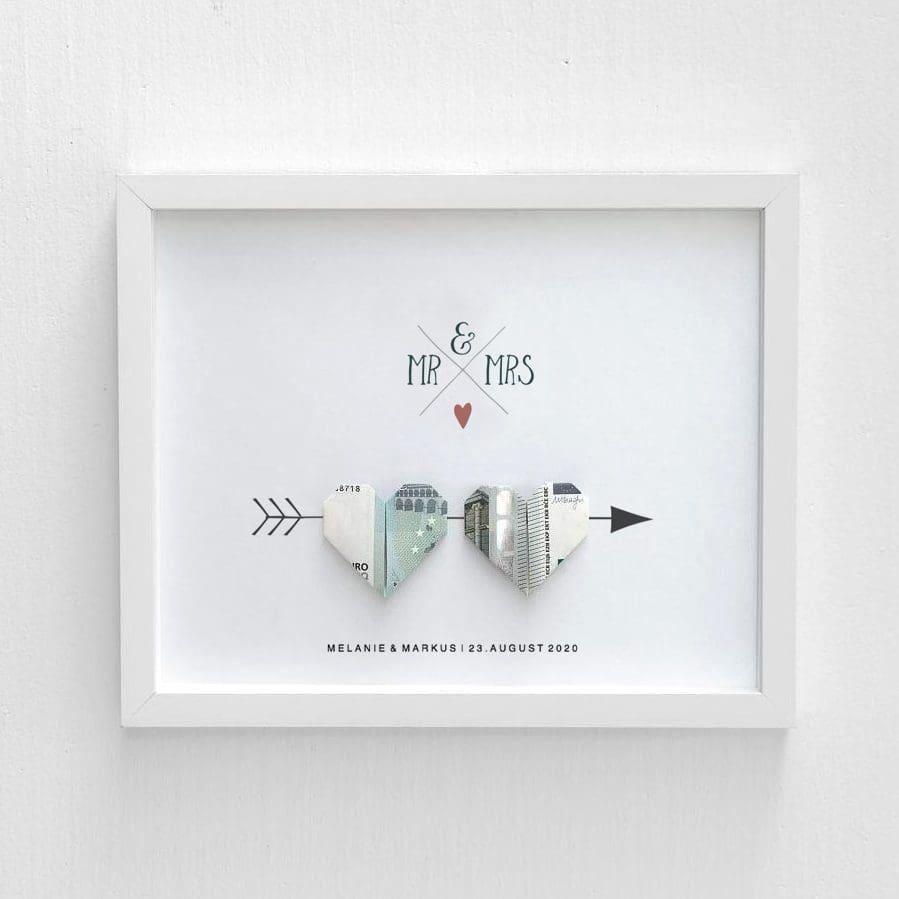 Geldgeschenk Hochzeit selber basteln