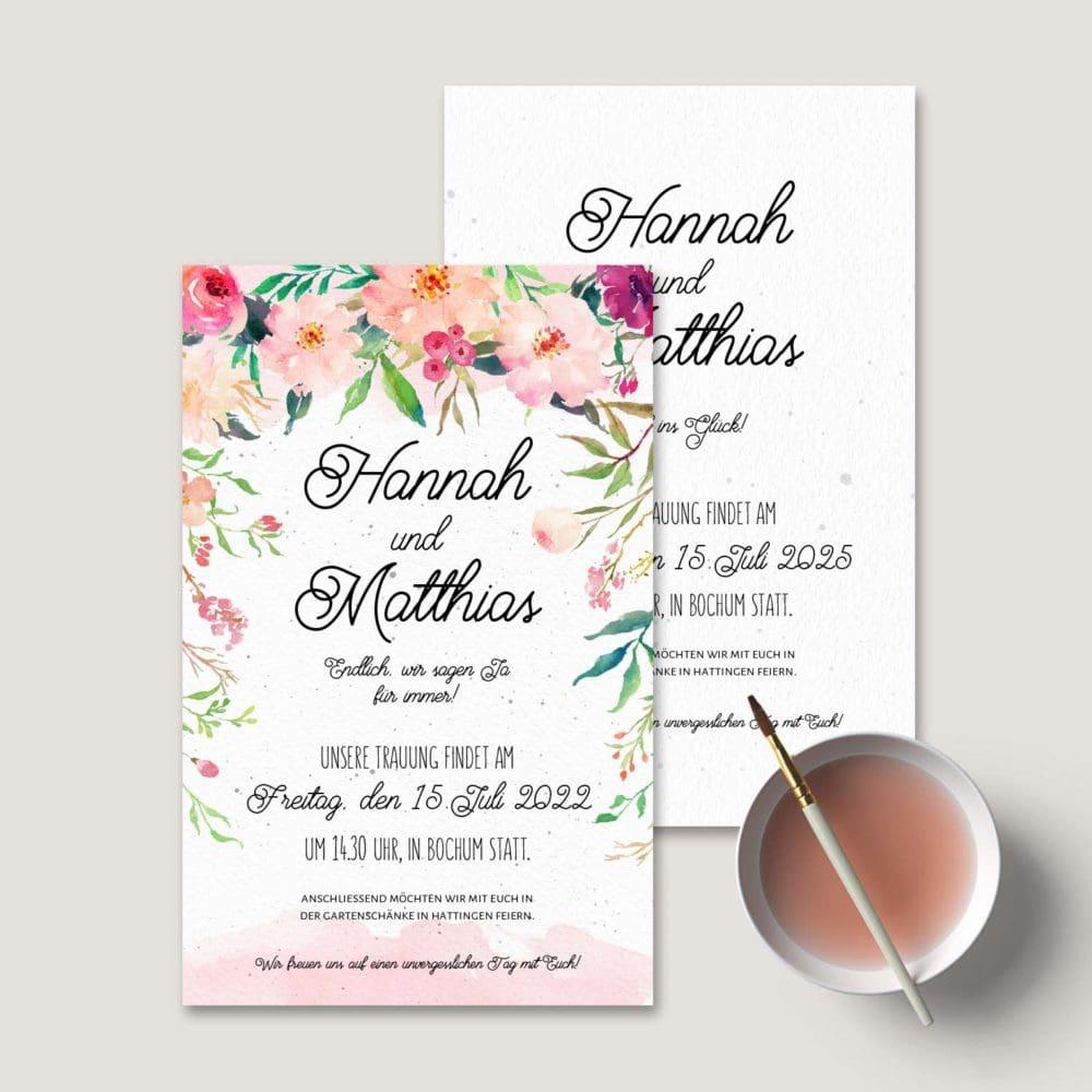 Einladung Hochzeit Blumen