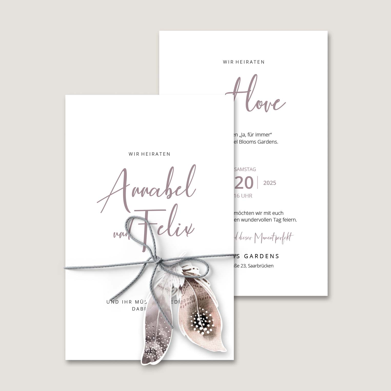 Einladung Hochzeit Boho
