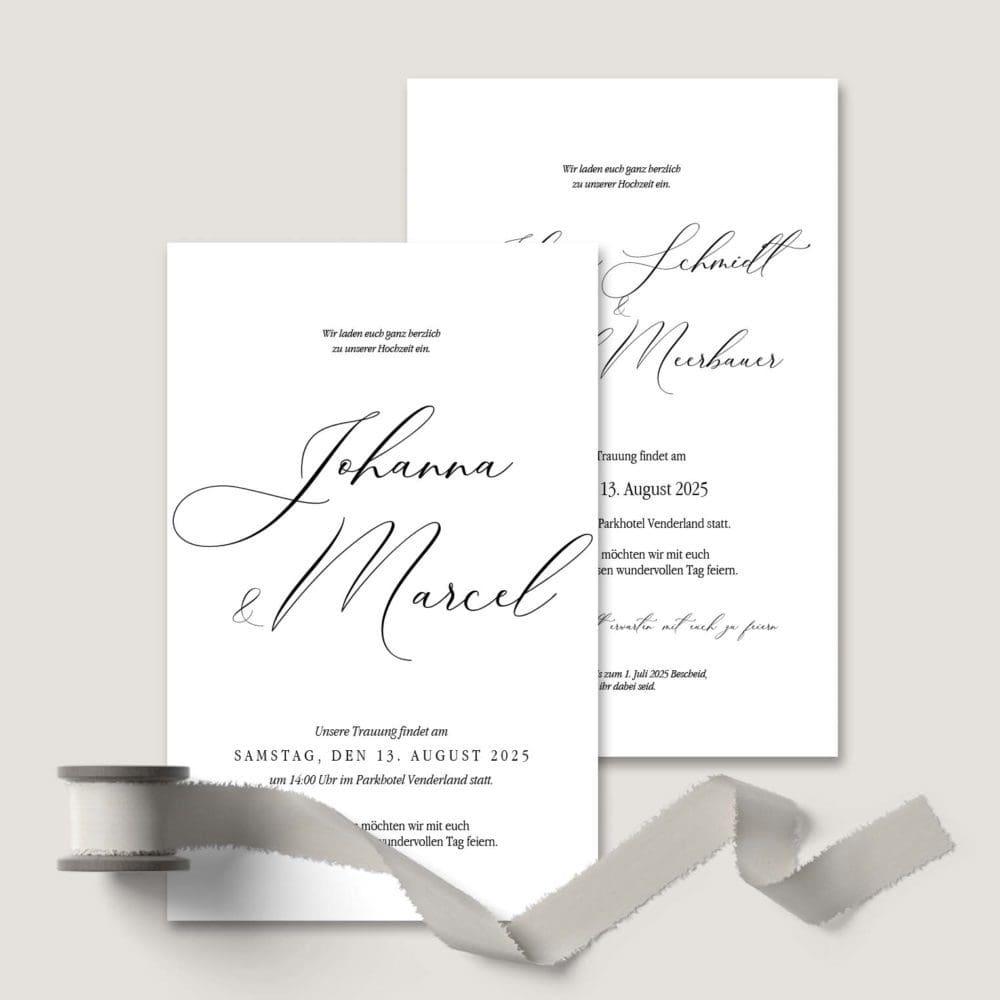 Einladung Hochzeit Kalligraphie