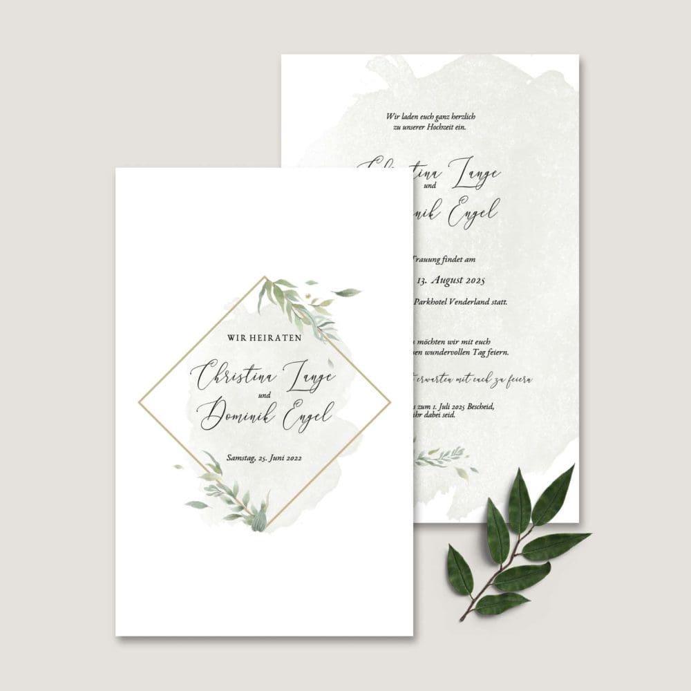 Einladung Hochzeit Greenery