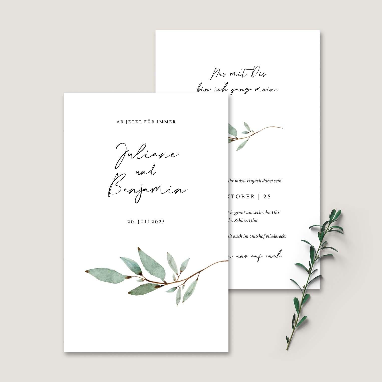 Einladung Hochzeit Zweig